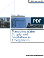 Managing Water Supply and Sanitation in Emergencies