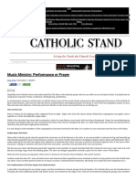 Music Ministry_ Performance or Prayer - Catholic Stand _ Catholic Stand
