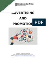 Advertising & Promotion Dissertation Sample
