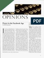 Prayer on Facebook(1)