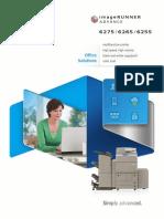 Imagerunner Advance 6275 6265 6255 Brochure