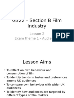 G322 – Section B Film Industry Lesson 2