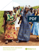 Mainstreaming a Gender Justice Approach