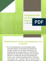 Programación en El Área Industrial