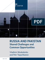 RUSSIA AND PAKISTAN Shared Challenges and Common Opportunities