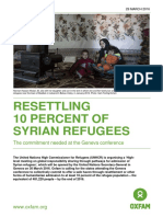 Resettling 10 Percent of Syrian Refugees