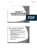 Software Development (Testing & Validation)