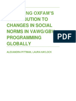 Assessing Oxfam's Contribution to Changes in Social Norms in VAWG/GBV Programming Globally