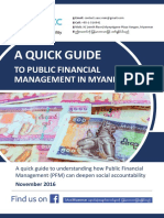 A Quick Guide to Public Financial Management in Myanmar