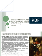 Documents.tips 24 Why So Pale and Wan Fond Loversir John Suckling