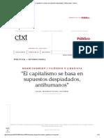 El Capitalismo Se Basa en Supuestos Despiadados, Antihumanos - Chomsky