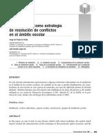 07 LA MEDIACIÓN COMO ESTRATEGIA DE RESOLUCIÓN DE CONFLICTOS EN EL ÁMBITO ESCOLAR.pdf