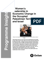 Women's Leadership in Economic Change in the Occupied Palestinian Territories and Israel