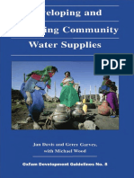 Developing and Managing Community Water Supplies
