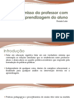 O Compromisso Do Professor Com a Aprendizagem Do