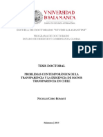 Problemas Contemporáneos de La Transparencia y La Exigencia de Mayor Transparencia en Chile