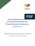 Actualización de La Guía Metodológica Para La Construcción Participativa Del Pei-1