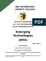 MTE Exams 2016