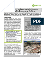The Use of Poo Bags for Safe Excreta Disposal in Emergency Settings