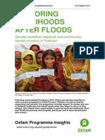 Restoring Livelihoods After Floods