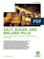 Salt, Sugar, and Malaria Pills