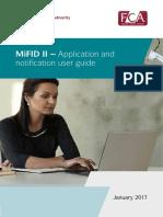 Mifid II Application Notification Guide