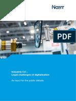 Legal Challenges of Digitalisation Industrie 40