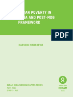 Urban Poverty in India and Post-MDG Framework