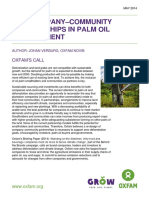 Fair Company–Community Partnerships in Palm Oil Development