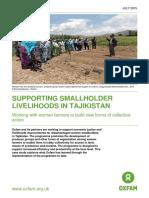 Supporting Smallholder Livelihoods in Tajikistan