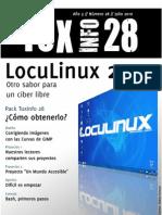 TuxInfo 28 lista para la descarga!!! LocuLinux 2.0, otro sabor para un ciber libre