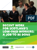 Decent Work for Scotland's Low-Paid Workers