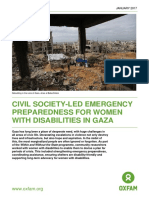 Civil society-led Emergency Preparedness for Women with Disabilities in Gaza