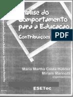 Hübner, M. M. C. (2004). Análise do Comportamento para a Educação -  Contribuições Recentes.pdf