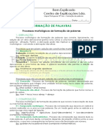 Formação de palavras - Ficha Informativa