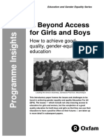 Beyond Access for Girls and Boys