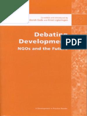 Debating Development: NGO's and the future | Non