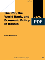 The IMF, the World Bank, and Economic Policy in Bosnia