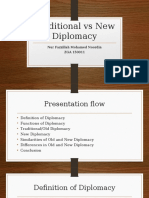 Traditional vs New Diplomacy