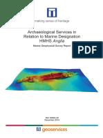 HMHS Anglia Marine Geophysical Survey Report