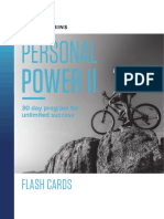 Personal Power II Flash Cards