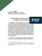 Antropologija Raspada Jugoslavije, o Etničkom Nacionalizmu
