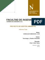 Gonzales Mendoza Luis - Tecnologia y Gestion Ambiental