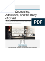 Biblical Counseling, Addictions and the Body of Christ, DAVE DUNHAM