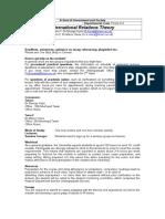 POLS 214 International Relations Theory 2016-17