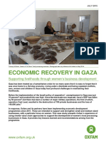 Economic Recovery In Gaza