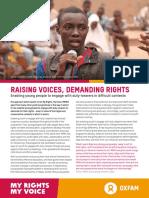 Raising Voices, Demanding Rights