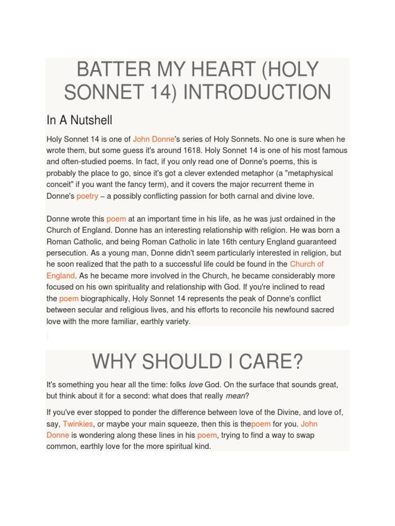 holy sonnet v
