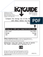 Energy Guide Refrig - 2265225