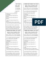 Himno Nacional de Chile Para Imprimir